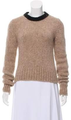 Marni Alpaca Knit Sweater Beige Alpaca Knit Sweater