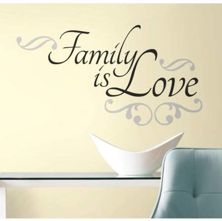 RoomMates Decor Family is Love Quote Wall Decals