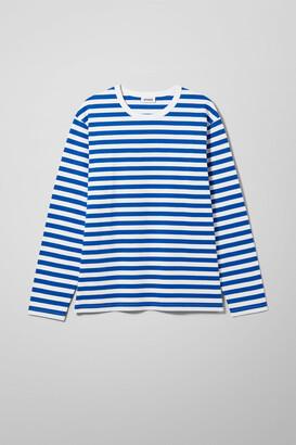 Weekday Moca Stripe Long Sleeve - Blue