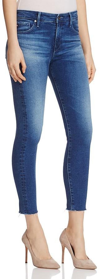 AG JeansAG Farrah Raw Hem Skinny Ankle Jeans in Native Dew