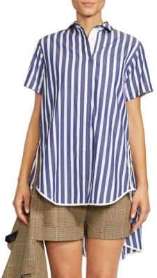 Sacai Striped High-Low Shirt
