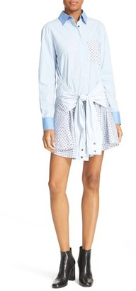 Women's 10 Crosby Derek Lam Tie Waist Shirtdress $395 thestylecure.com