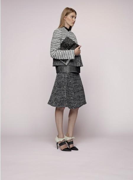 Proenza Schouler Woven Leather Skirt