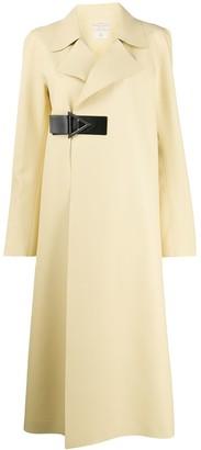 Bottega Veneta leather belt detail coat