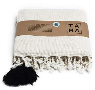 Tama Towels Aegean Cotton Pom Pom Throw