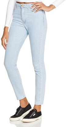 American Apparel Stretch Denim Pencil Jeans in Medium Stone Washed Indigo $94 thestylecure.com