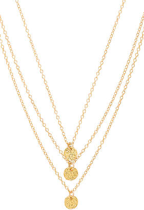 gorjana 3 Disc Necklace in Metallic Gold. $70 thestylecure.com