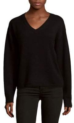 Saks Fifth Avenue Batwing Deep V-Neck Cashmere Sweater