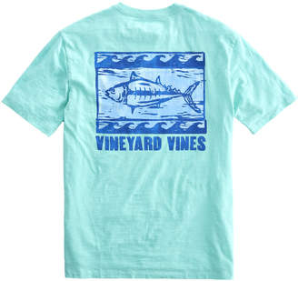 Vineyard Vines Slub Woodblock Tuna Pocket T-Shirt