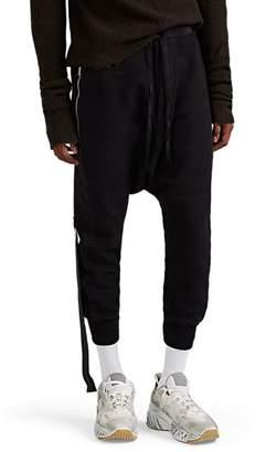 Taverniti So Ben Unravel Project Men's Drop-Rise Cotton Jogger Pants - Black