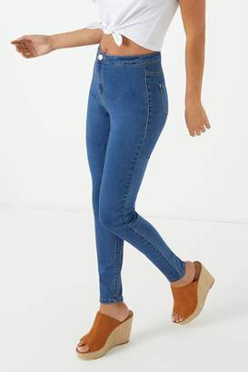 Missguided Womens High Waist Skinny Jeans - Blue