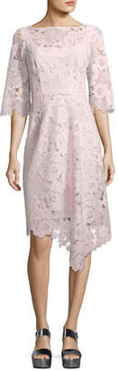 Nanette Lepore Bailamo Lace Asymmetric Dress