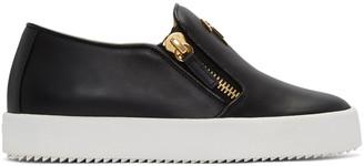 Giuseppe Zanotti Black London Slip-On Sneakers $650 thestylecure.com