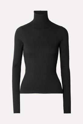 The Range - Alloy Ribbed Stretch-knit Turtleneck Sweater - Black