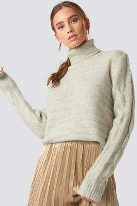 BEIGE Trendyol Yol Knitted Polo Jumper