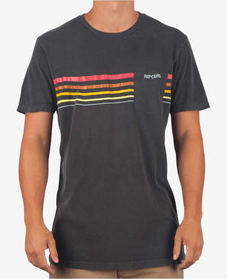 Rip Curl Men's Pigment Dyed Striped Pocket T-Shirt