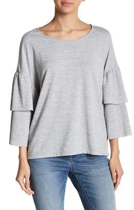 Vero Moda Natural Ruffle 3/4 Length Sleeve Sweater