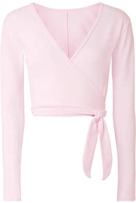 Ballet Beautiful Stretch Wrap Top - Baby pink