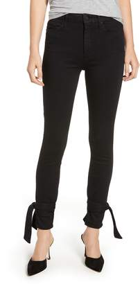 Mother The Looker High Waist Bow Ankle Skinny Jeans