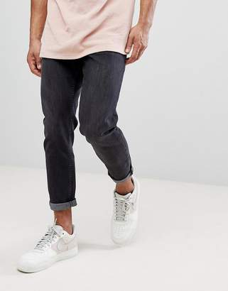 New Look Tapered Jeans In Black Wash