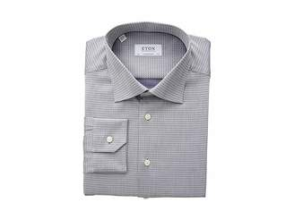 Eton Contemporary Fit Textured Sold Button Down Shirt