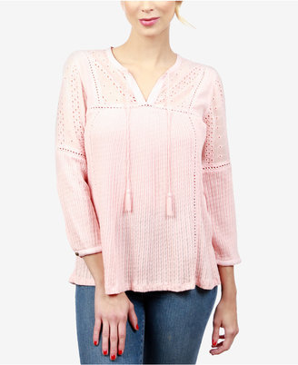Lucky Brand Embroidered Peasant Top $69.50 thestylecure.com