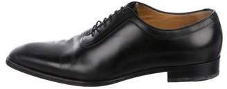 Gucci Square-Toe Leather Oxfords