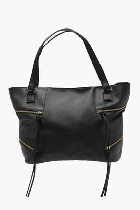boohoo Lucille Crosshatch Zip Detail Day Bag
