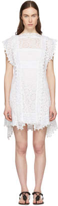 Isabel Marant White Kunst Broderie Anglaise Short Dress