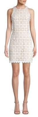 Eliza J Geometric Lace Sheath Dress