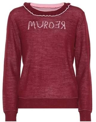 Undercover Murder reversible wool sweater
