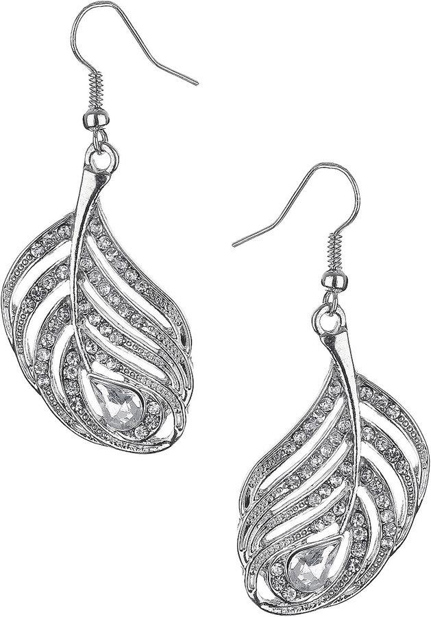 Stone Leaf Drop Earrings