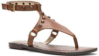 Sam Edelman Galena Leather Ankle-Strap Sandals