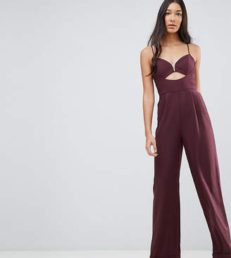 Asos Tall TALL Tailored Jumpsuit with Cut Out Detail and Wide Leg