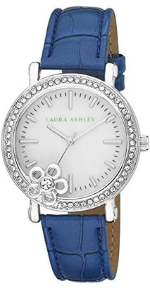 Laura Ashley Women's LA31013BL Analog Display Japanese Quartz Blue Watch $39.99 thestylecure.com