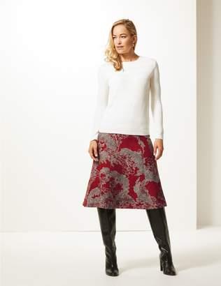 Marks and Spencer Jacquard Print Skater Midi Skirt