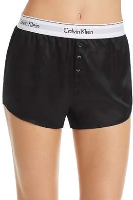 Calvin Klein Black Silk Sleep Shorts