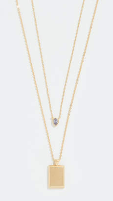Madewell Teardrop Pendant Necklace Set