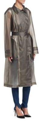 TRE by Natalie Ratabesi Zip-Up Trench Coat