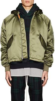 Fear Of God Men's Satin Insulated Hooded Bomber Jacket