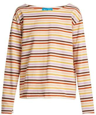 M.i.h Jeans - Simple Striped Cotton Jersey Top - Womens - White Multi