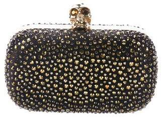 Alexander McQueen Crystal Embellished Skull Box Clutch