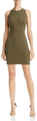 Minnie Rose Stitch Detail Sweater Dress $216 thestylecure.com