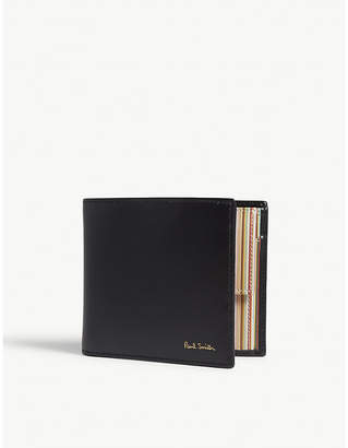 Paul Smith Interior multi-striped billfold wallet with coin pocket