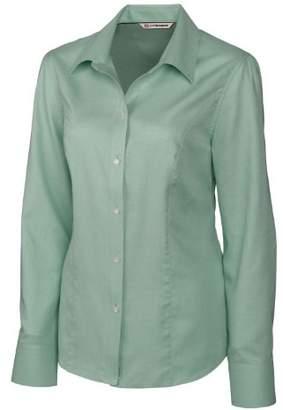 Cutter & Buck Women's Epic Easy Care Long Sleeve Nailshead Collared Shirt