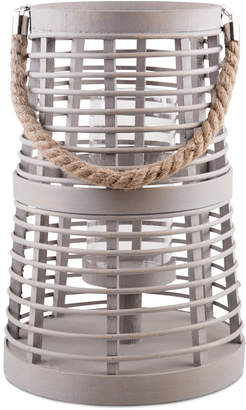 Home Essentials Coastal Gray Bamboo Lantern