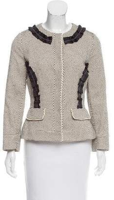 Fendi Collarless Ruffle-Accented Jacket w/ Tags