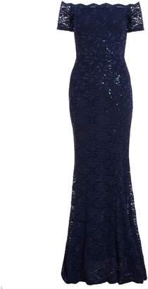 Dorothy Perkins Womens *Quiz Navy Sequin Bardot Maxi Dress