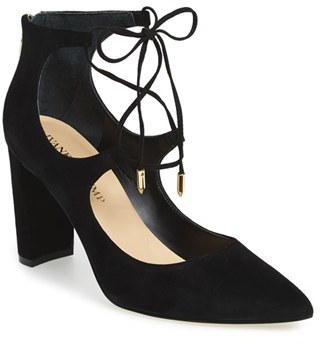 Ivanka Trump 'Kellsee' Pointy Toe Ghillie Lace Pump (Women) $139.95 thestylecure.com