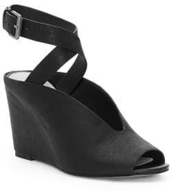 1 STATE 1.STATE Felidia Leather Ankle-Strap Wedge Sandals